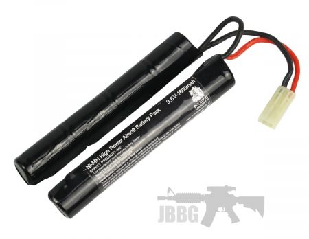 9.6V 1600 Bulldog Airsoft Crane Battery