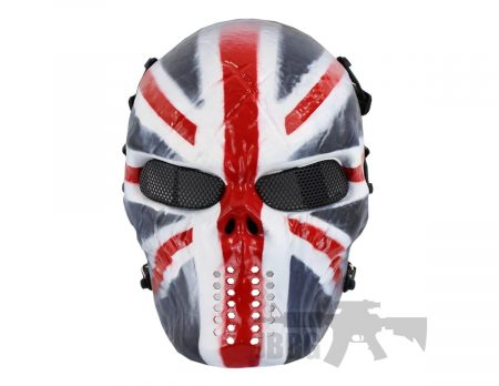 Painted Skull Airsoft Mask