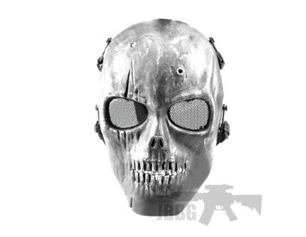 Pro Face Skull Mask Dark Silver