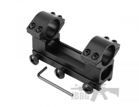 One Piece High Profile Weaver Rail Scope Mount 25mm Scope Ring