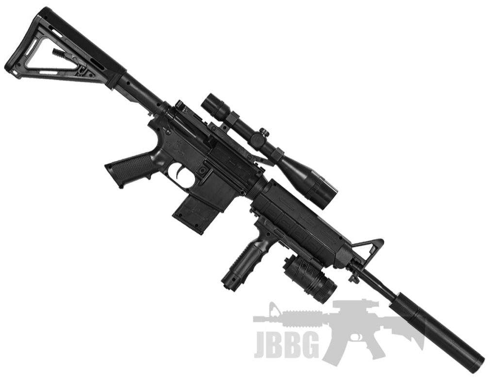 black sniper airsoft rifle