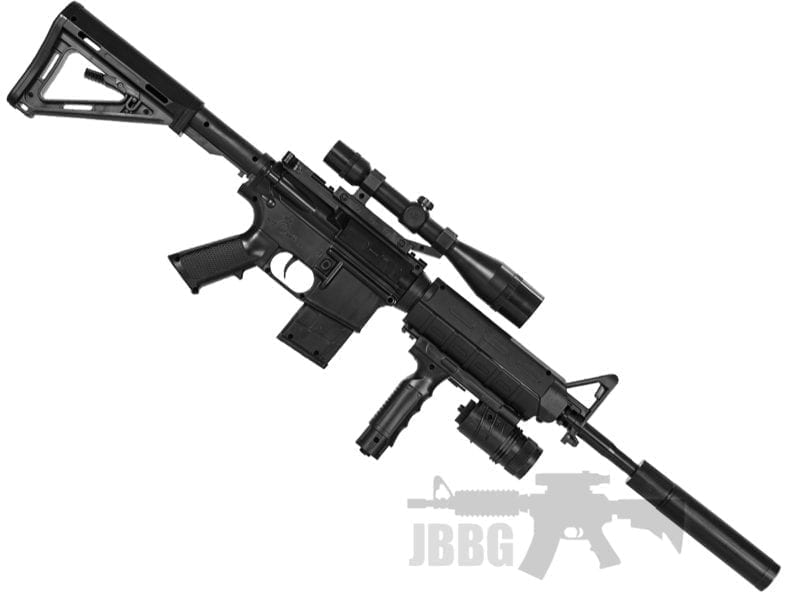 black sniper airsoft rifle