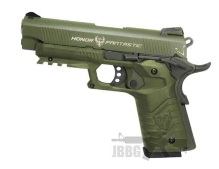 HG172 TAC 1911 GAS PISTOL GREEN