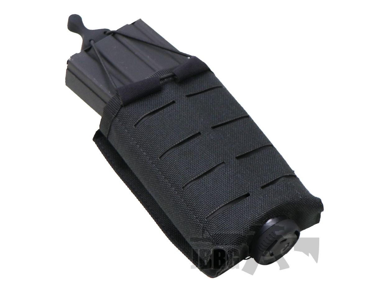 black adjustable tactical magazine molle