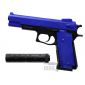 m24 airsoft pistol with silencer blue